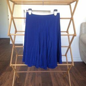 NWOT Banana Republic Royal Blue Knee Length Skirt